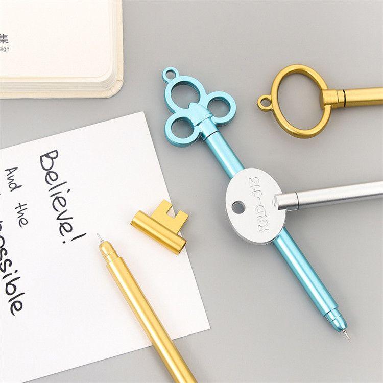 Forma Clave creativa Gel PensFashion Girl Pen Para la Escuela Papelería Suministros de oficina rotulador Estudiante Aprender Escribir Regalos Bolígrafos de Premio IB598