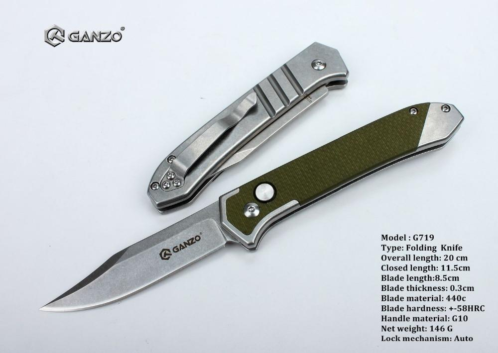 440c ganzo g719 g719 b tactical pocket ganzo folding knife 440c
