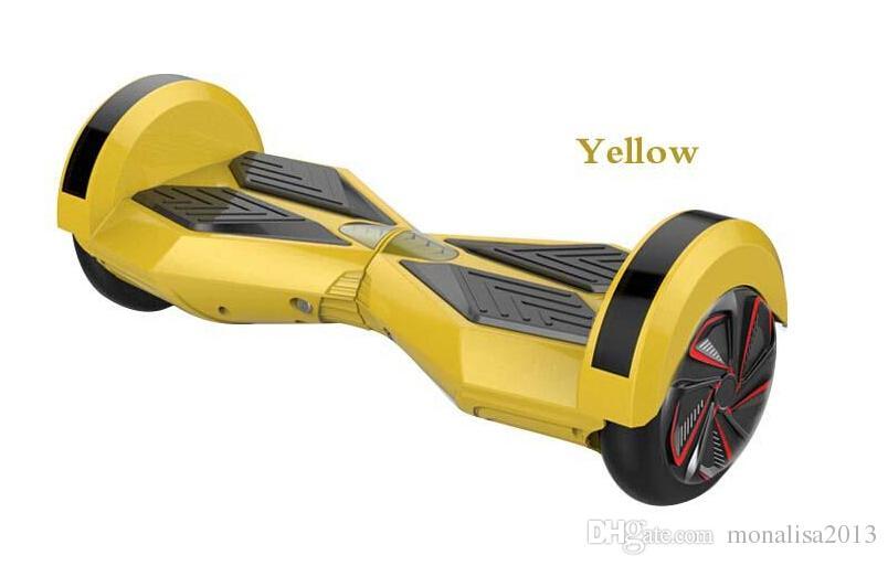 8.5 Inç Akıllı denge tekerlekleri Öz dengeleme Elektrikli Scooter 36 V Iki tekerlek scooter ile Bluetooth hoverboard hovertrax 4.4AH