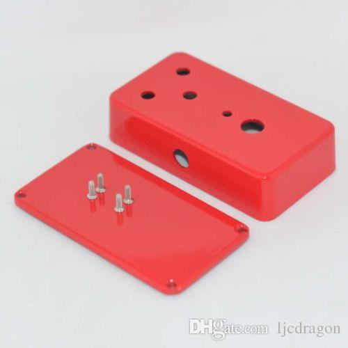 1590B Style Effects Pedal Aluminum Stomp Box Enclosure for Guitar pedal Red Hole