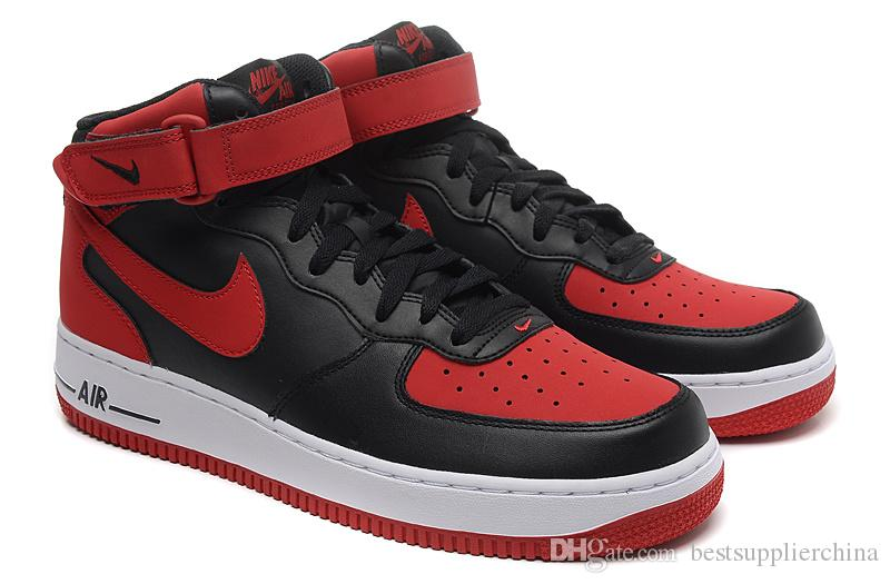 size 40 097c9 c7c13 red and black nike air force 1 high tops