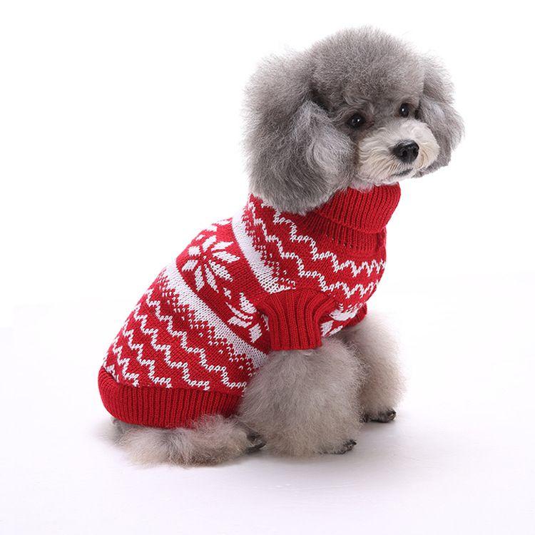 Ren-Hundeweihnachts Halloween-Party-Kleidung der neuen Ankunfts-Strick Welpen Haustier-Katzen-Kostüm Snowflake Outer Mantel Pullover Kleidung HH7-250