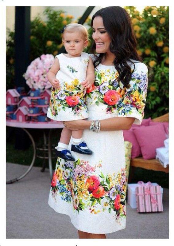 Großhandel Mode Passende Mutter Tochter Kleidung Sommer Art Mutter ...