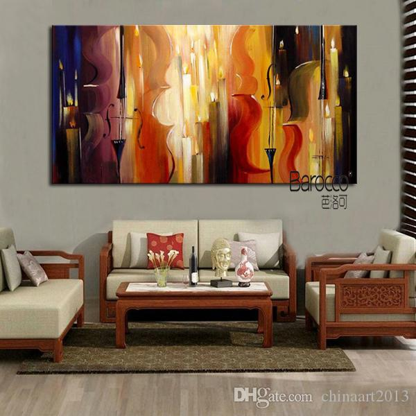 Music Subject 100% Hand Painted Modern Abstract Oil Painting on Canvas Wall Art Home Decoration Gift