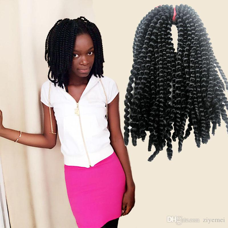 Nubian Twist Me Black Bomb Style Hair Synthetic Kinky Curly Hair