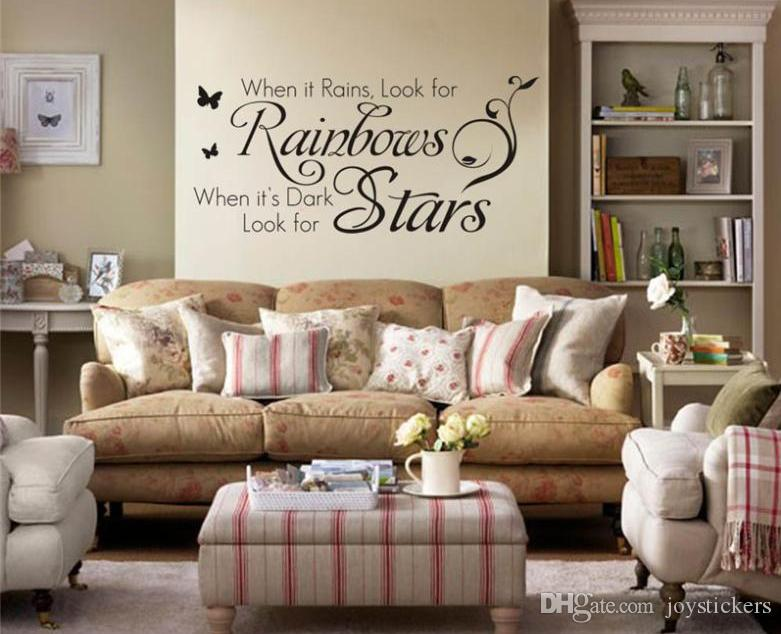 Home Decoration Quotes Wall Decals Bedroom Living Room Wall Art Removable Vinyl Diy Wall Stickers Decorative Sticker Home Wall Decals Quotes Home Wall Decor Stickers From Joystickers 12 66 Dhgate Com