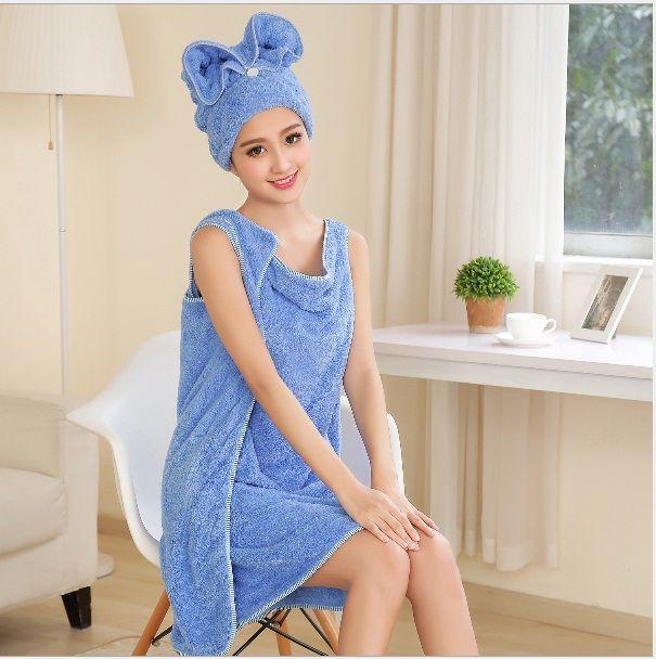 towel set coral velvet dress shower cap bath towel hand towel wash bath gown red purple white pink blue bath gown m l xl sports towels