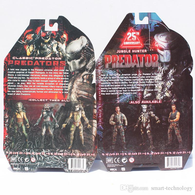 "7"" 18CM NECA Jungle Hunter Movie Predator 25th PVC Action Figure Collection Toy Retail"