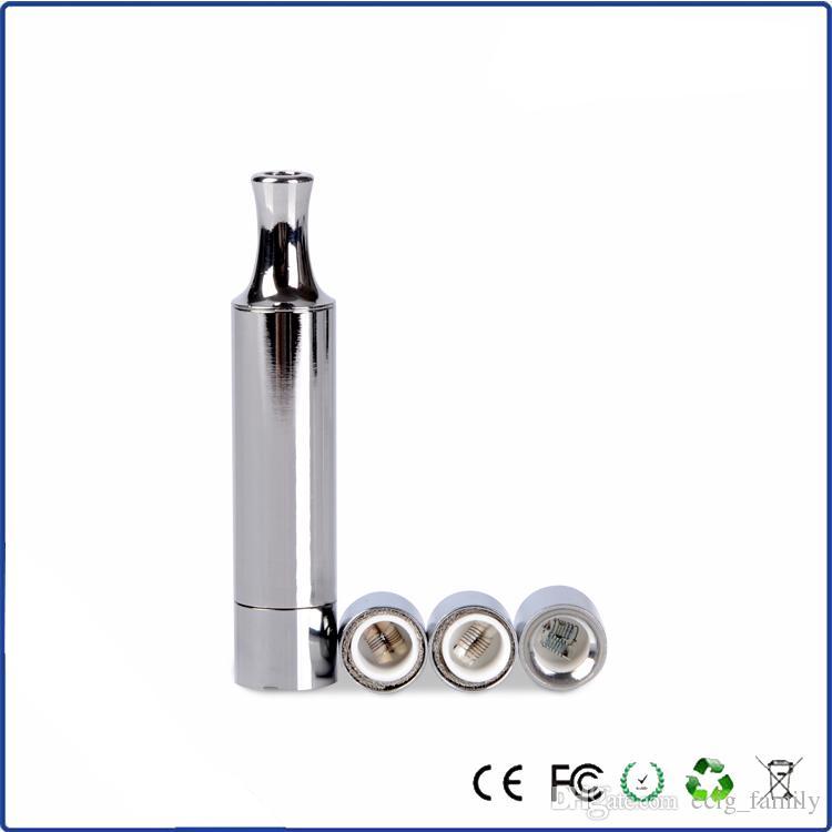 Best Stainless steel Bullet wax atomizer vapor Dual coil head coils wax vaporizer mod Bullet wax Ego t vv cartomizer atomizer