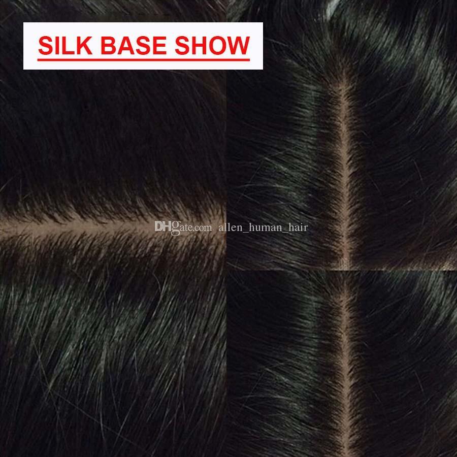 Шелковая Основа Полный Шнурок Человеческих Волос Парики Свободная Волна Шелковый Топ 130 Плотность С Волосами Младенца Волнистые Естественный Волосяный Покров Бразильские Девственные Волосы Glueless