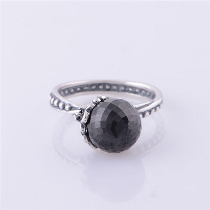 ff9b4595d ... hot rip024 jewelry wholesale new arrival 11 original 925 sterling  silver rings black pearl flower ring ...