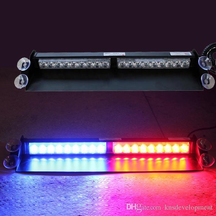 18LED X1W High Intensity Lightning Flash Led Windschutzscheibe Strobes Dash Light 12V 54W mit Zigarettenanzünder