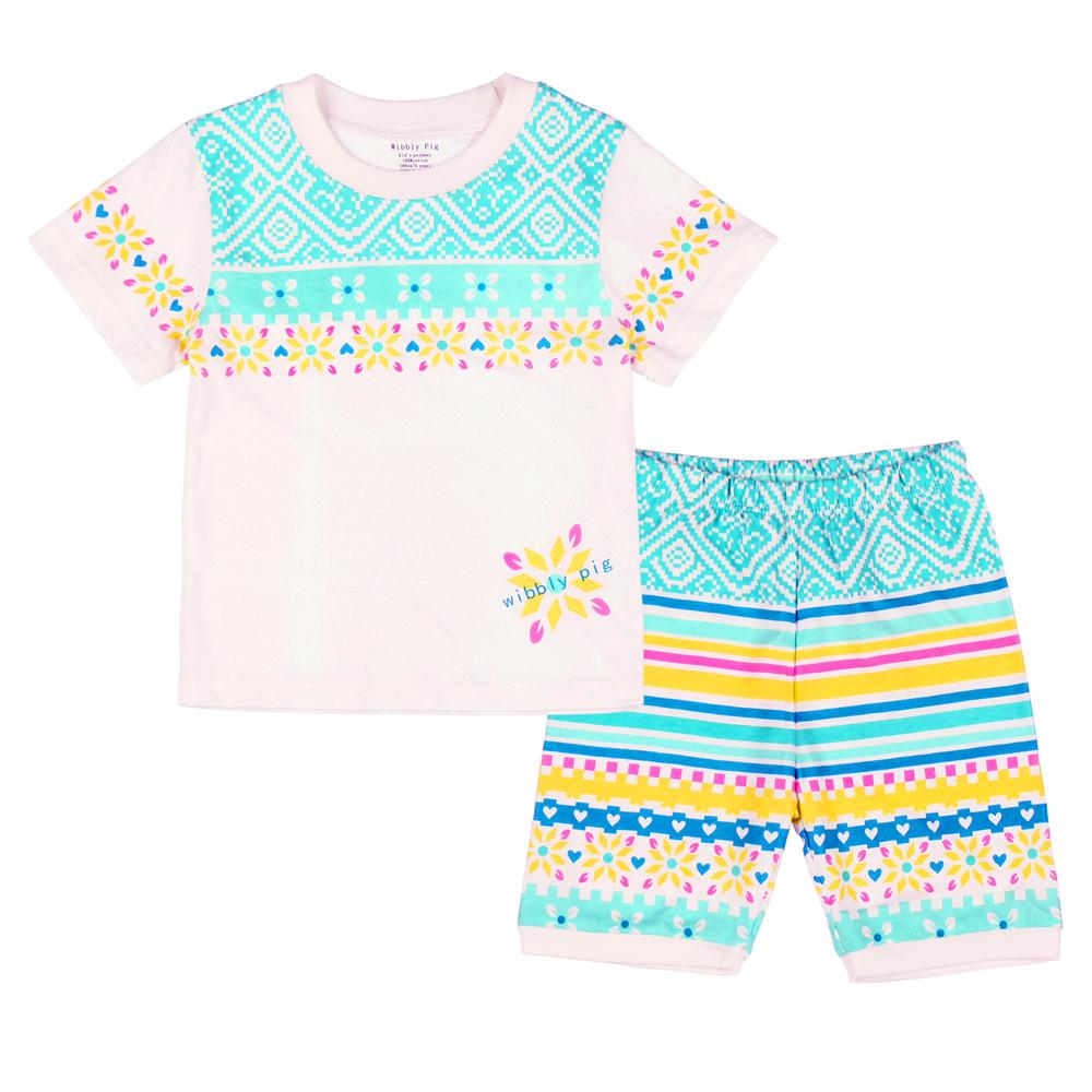755ece0c8c Child Clothes For Kids 2017 Summer Top Wibbly Pig T Shirt Short Sleeves  Striped Casual Girls Fashion Baby Clothing Cotton Pjs For Kids Christmas Kids  Pjs ...