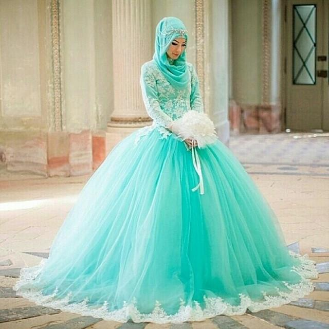 Turquoise Wedding Veils