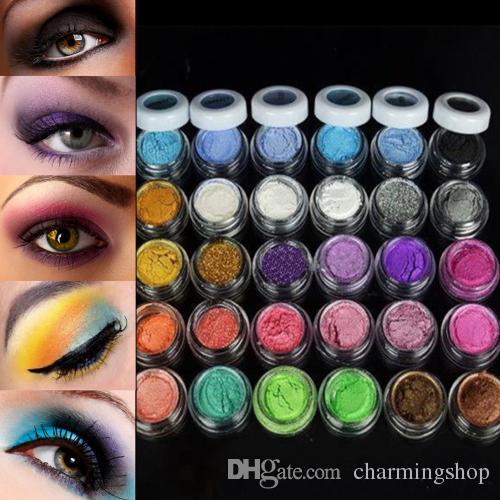 горячо !30 цветов тени для век порошок палитра красочный макияж минеральный блеск тени для век порошок профессиональный бесплатная доставка