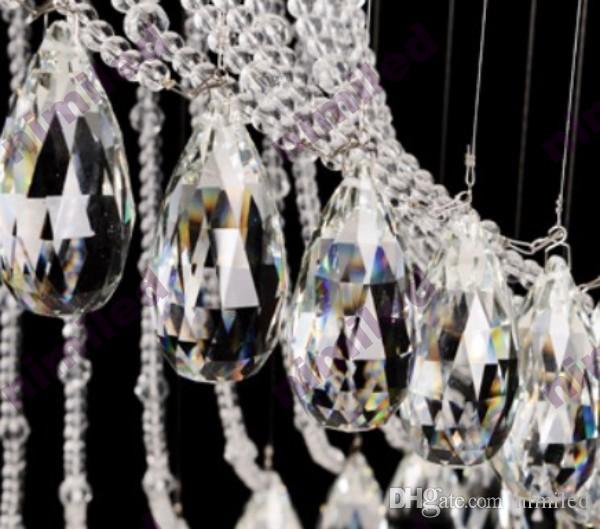 Nimi Dia 40/50/60/70/80/100 cm Escadas Duplex Moderna Escada Em Espiral Candelabro Lustre Villa Casa Andar Sala de estar Iluminação Droplight de Cristal