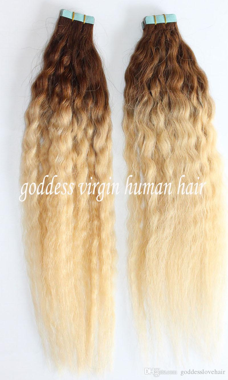 Two tone ombre brazilian hair skin weft hair extension human kinky two tone ombre brazilian hair skin weft hair extension human kinky curly tape in hair extension human cheap 18 20 22 24 26 u tip hair extensions remy weft pmusecretfo Image collections