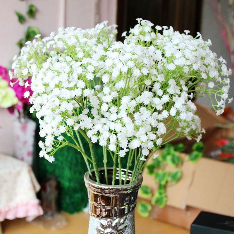 Discount pretty gypsophila babys breath artificial fake silk discount pretty gypsophila babys breath artificial fake silk flowers plant home wedding decoration 54986 from china dhgate mightylinksfo