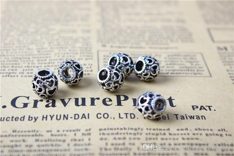 Hollow Many Precious Heart Alloy Charm Bead Fashion Women Jewelry Stunning Design European Style For Pandora Bracelet Necklace