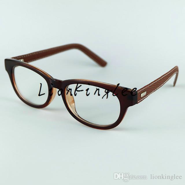 12 قطع الرجعية النظارات البصرية إطار oculos بو الجلود الساقين النظارات النظارات البصرية إطارات للنساء والرجال تخصيص ينس البصرية 7032