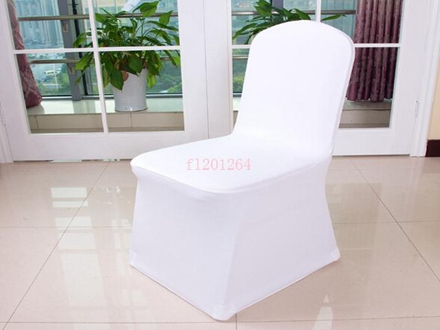 Universal Polyester Spandex Wedding Chair Covers for Weddings Banquet Folding Hotel Decoration White