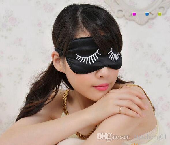 قناع النوم الحريري مع أنماط الرموش ، أفضل غطاء لعين النوم للسفر ، قيلولة ، تأمل ، معصوب العينين مع قناع قابل للتعديل للعيون