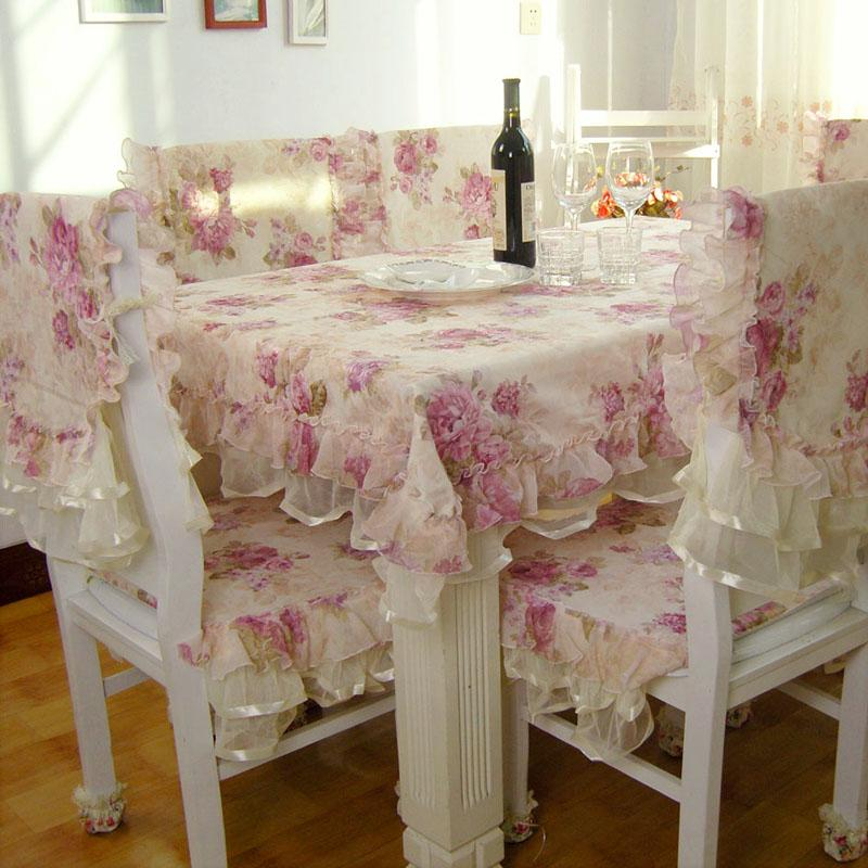 Dining Table Cloth Chair Cover Rustic Lace Set