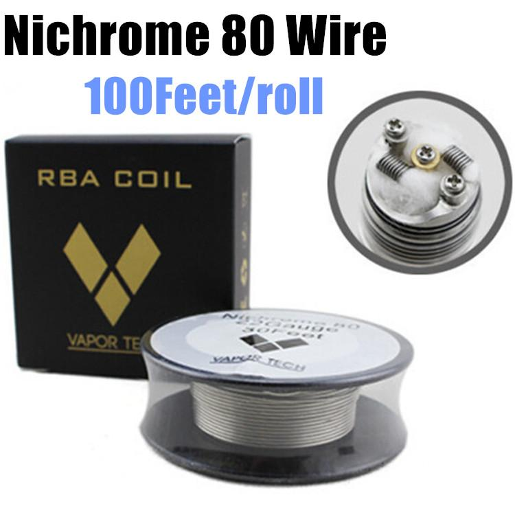 Vapor Tech Nichrome 80 Ni80 Vs Ni200 Wire Heating Resistance Wire ...