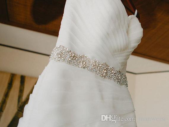 2018 di alta qualità da sposa perline perline da sposa con strass accessorio nuziale cintura di raso prom / sera / abiti da sposa