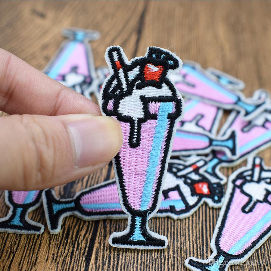 Drink Ice Cream pour Correctifs Sacs Vêtements de fer sur le transfert pour vêtements Patch Appliqué Jeans bricolage Sew sur broderie Badge