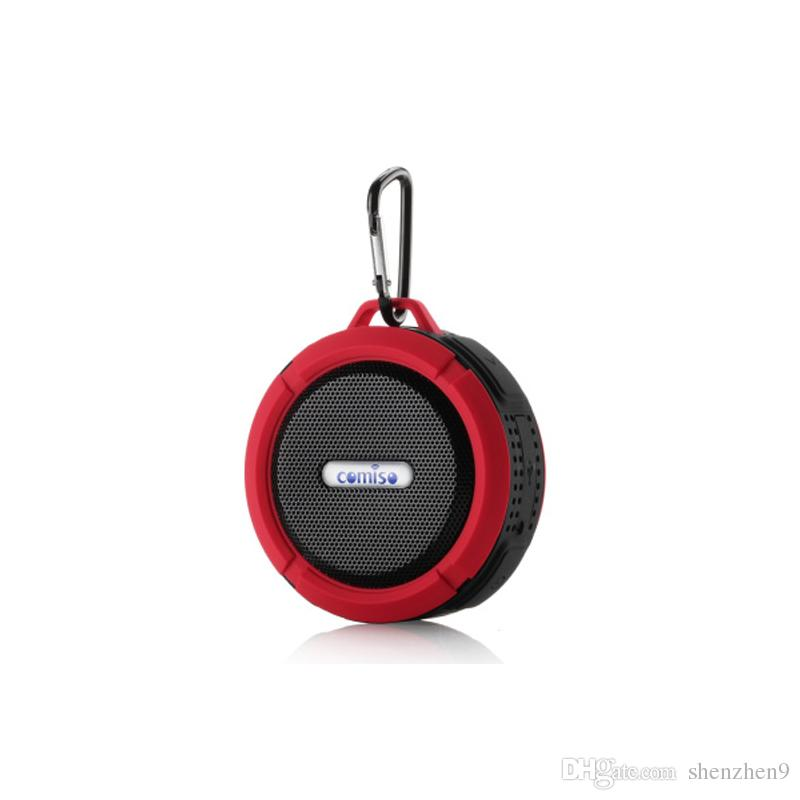 C6 Bluetooth Speakers IPX7 Outdoor Sports Shower Portable Waterproof Wireless Speaker Suction Cup Handsfree MIC Voice Box DHL Free MIS092