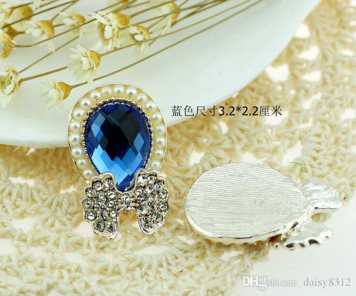 lágrima strass cristal pérola bow contas botão flatback para scrapbooking artesanato diy acessórios de grampo de cabelo