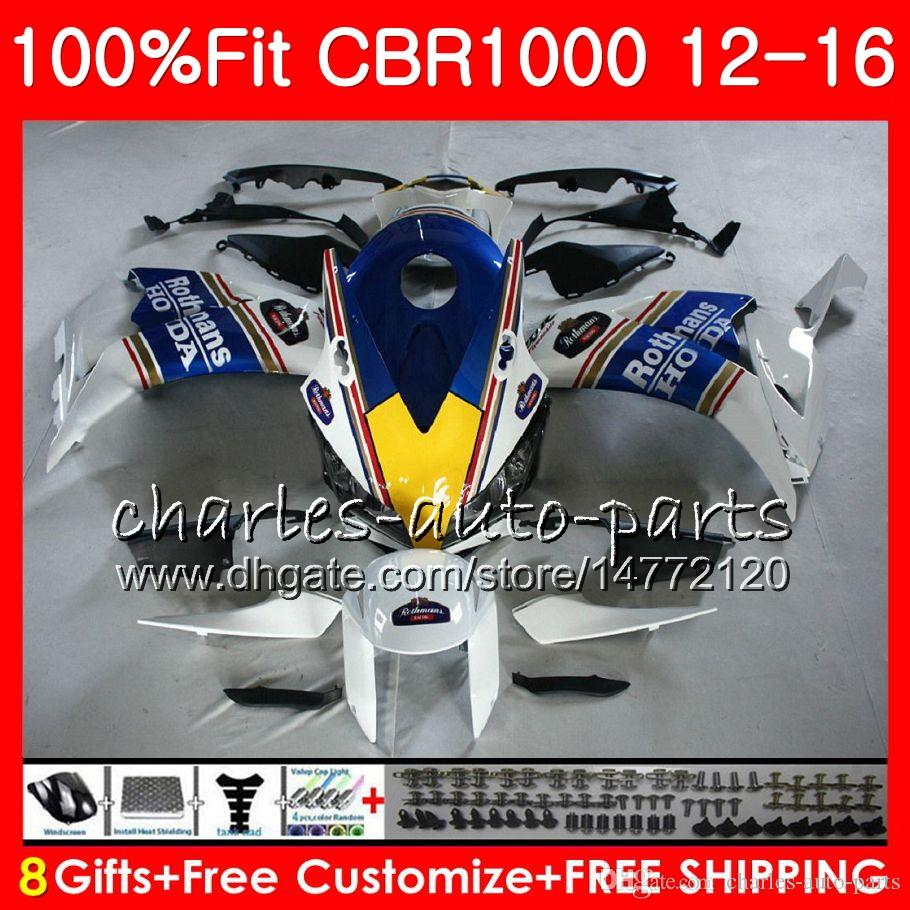 Injection For HONDA CBR1000 RR CBR 1000 RR 12 16 88NO31 CBR 1000RR 12 13 14 15 16 CBR1000RR 2012 2013 2014 2015 2016 Rothmans Blue Fairings