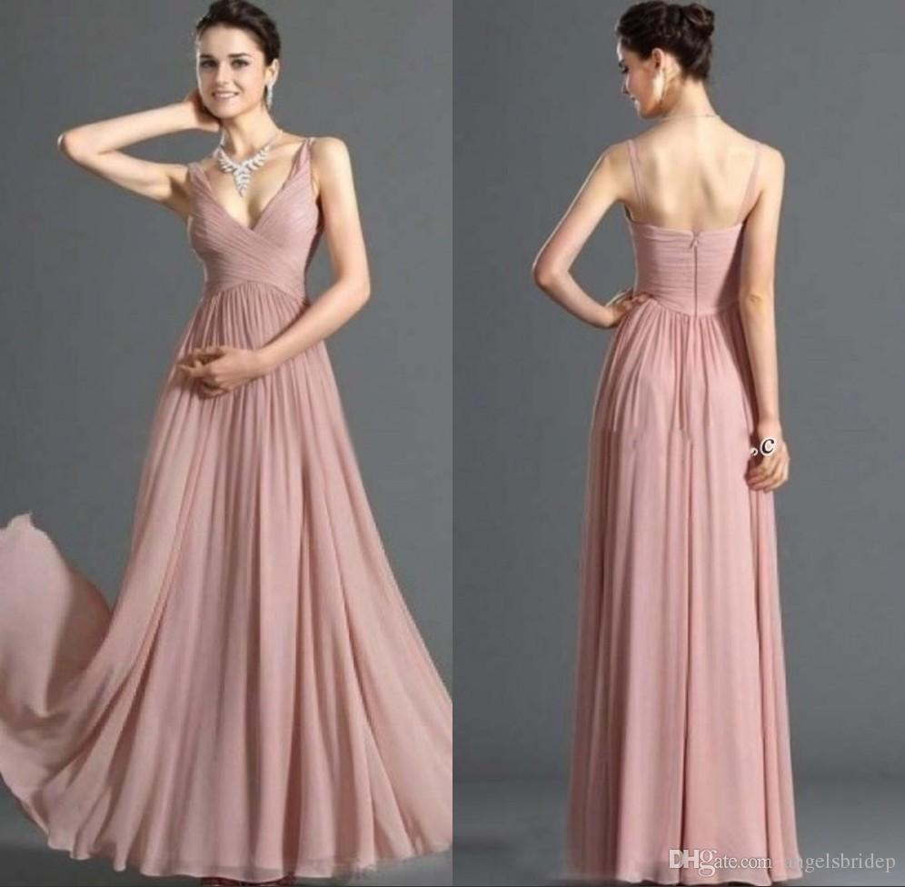 Simple But Elegant Evening Dresses 2013 V Neck Straps Sleeveless ...
