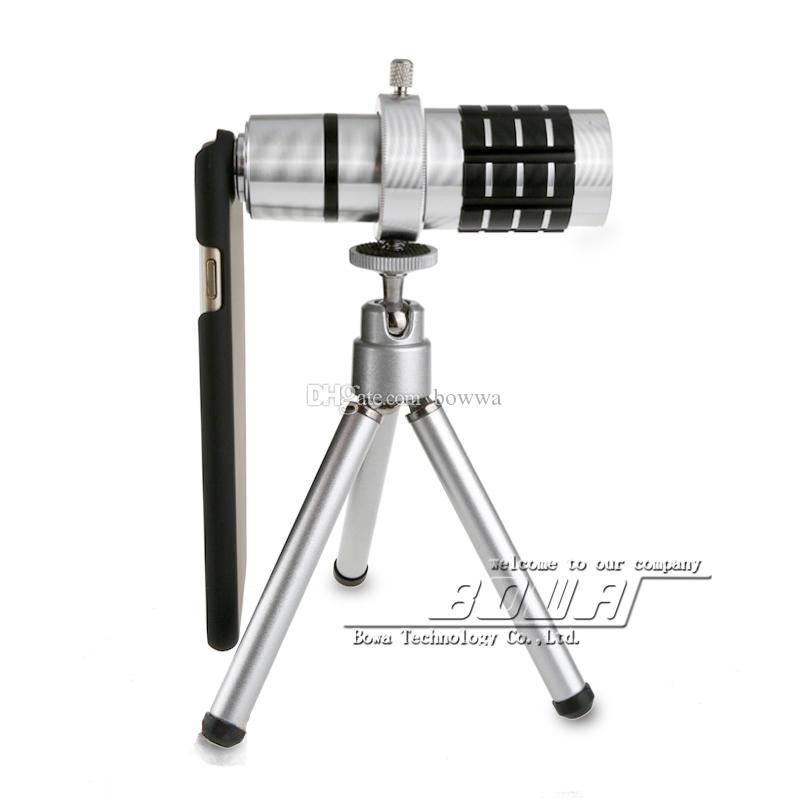 Newest mobile phone 12x Zoom optical lens Telescope Camera telephoto Lens with phone case For Apple iPhone 6 / 6 plus