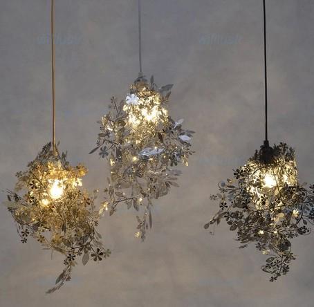 Design moderne Artecnica Guirlande Lumière TORD BOONTJE Garland Chandelier DIY Lumière Noire or chrome suspension