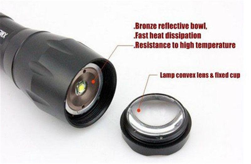 Niedrigster Preis, UltraFire E17 CREE XM-L T6 2000Lumens Taschenlampe der hohen Leistung Zoomable LED