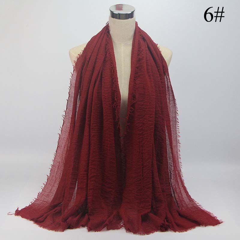 Fast Shipping, Women Maxi Hijabs Shawls 95*180CM Islamic Headband Wraps Soft Long Muslim Cotton Linen Hijab Scarfs
