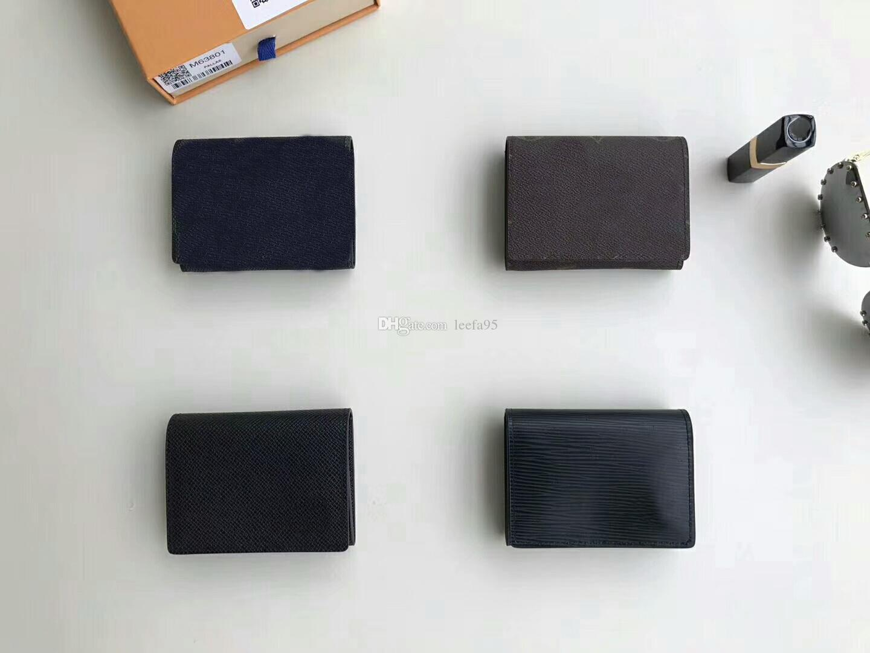Famous Brand Enveloppe Carte De Visite Wallet Card Holder NM Damier Men Women M63801 Purse Coin Bifold With Box CX265 Bag Branded Wallets