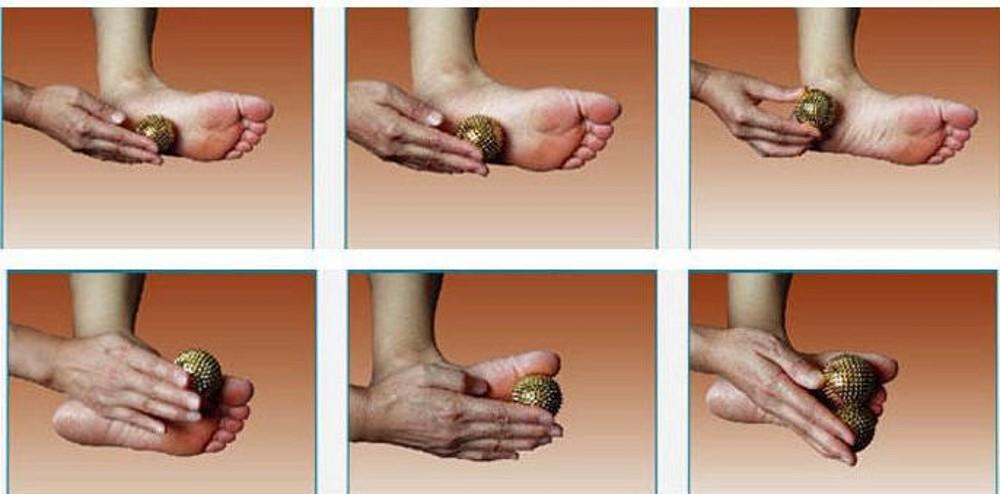 Vendita al dettaglio Novità Mano Palm Massager Ago Massaggio Stimolazione Palle Massaggio Pinball Body Fitness Rifornimenti di grasso ridotto