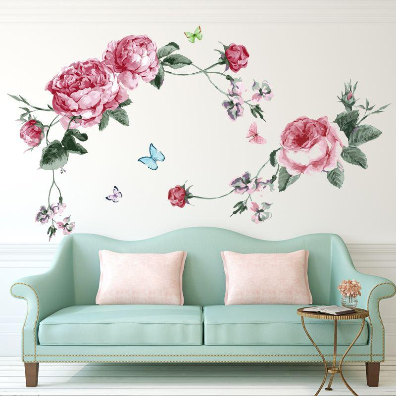 Floral Wall Decal Sticker Home Store Decor Diy Removable Art Vinyl