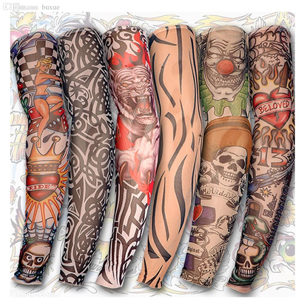 Wholesale-Tattoo Style Arm Stockings Mixed Nylon Elastic Fake ...