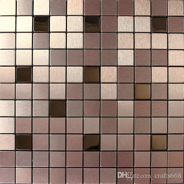 Aluminium Mosaic Tiles Wall Cladding Tiles Home Decoration