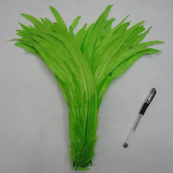 Gallo Feather Tail Feather Gallo Hackle Piuma infilata 35-40cm Piume di pollo Tinta di tasso Sella Estensione dei capelli