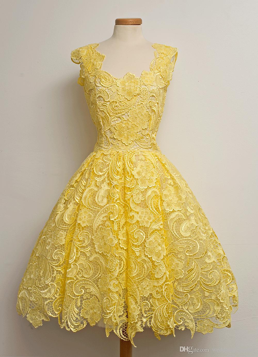 Luxus-einzigartige Spitzen-Partei-Kleider Weinlese-Knie-Längen-schicke populäre Abend-Kleider Frauen, die kurzes nach Maß wirkliches Bild bescheidenes Partei-Kleid verkappt werden
