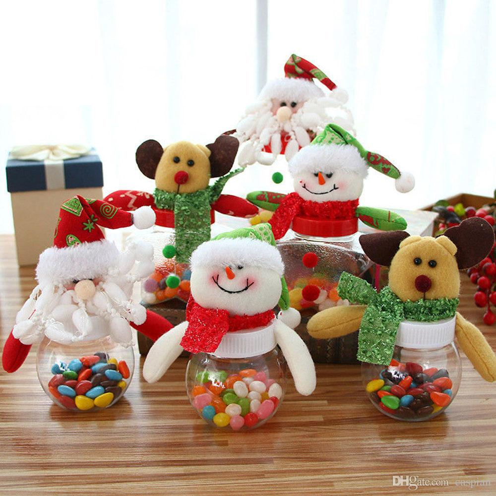 New Christmas Santa Claus Snowman Doll Toy Candy Box Case Candy Jar ...