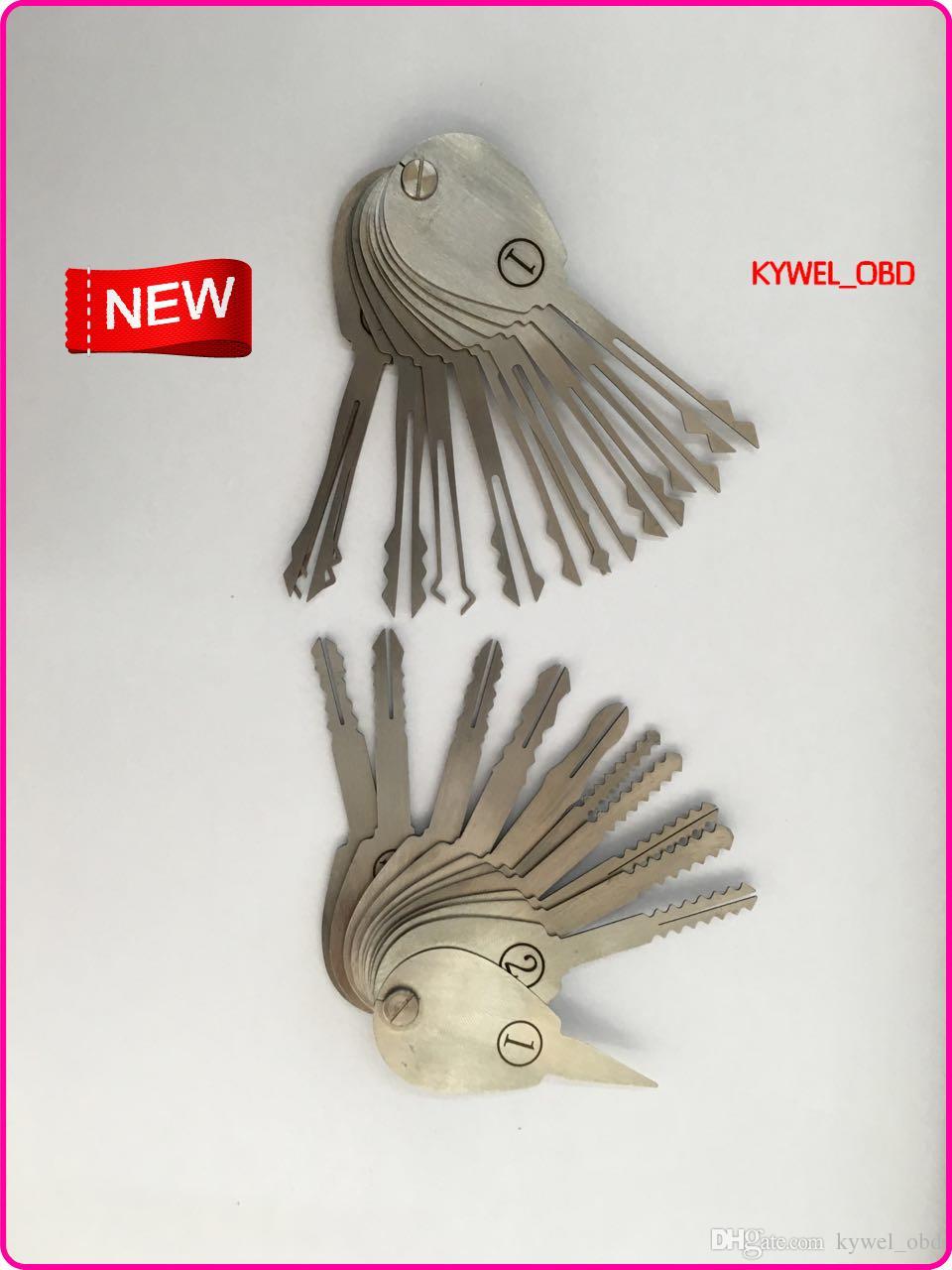2015 Nuovo 21 pz Auto Jigglers Keys Double Sided Lock Pick Set di Chiavi Apri di Blocco Lockpick Set Attrezzo del fabbro