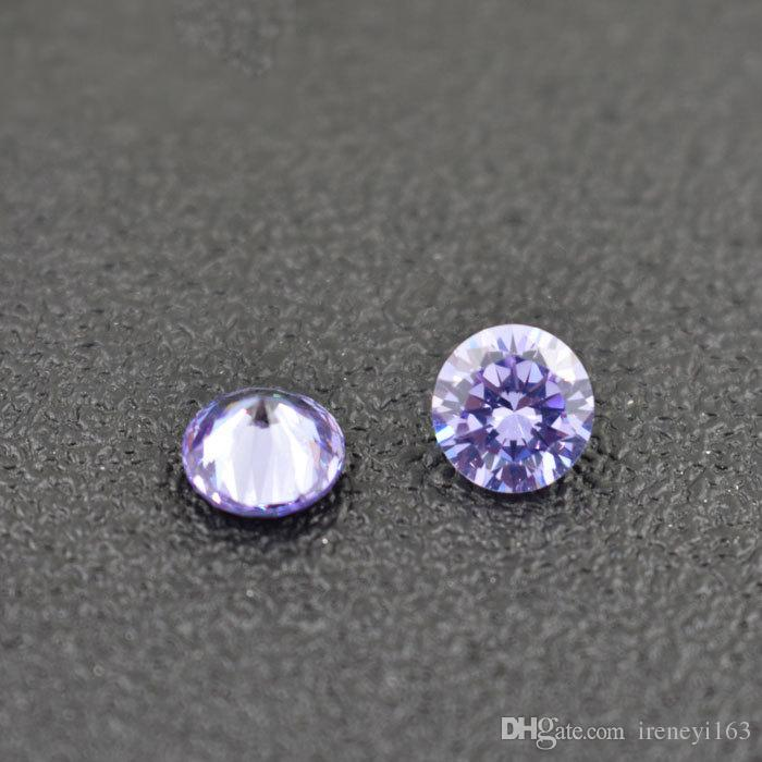 High Quality Birthstones Lab Created Cubic Zirconia Round 1-4.5mm Jau. To Dec. Loose Stone For Jewelry Locket color