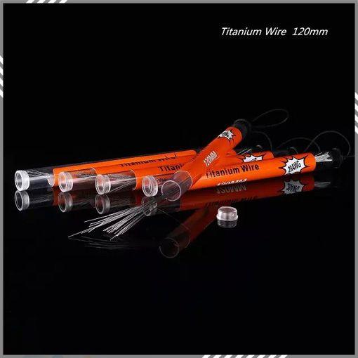 in a Tube Titanium Wire 120MM 24g 26g 28g 30g Resistance Wire Pure Titanium Wire Electronic Cigarette Temperature Control DHL Free