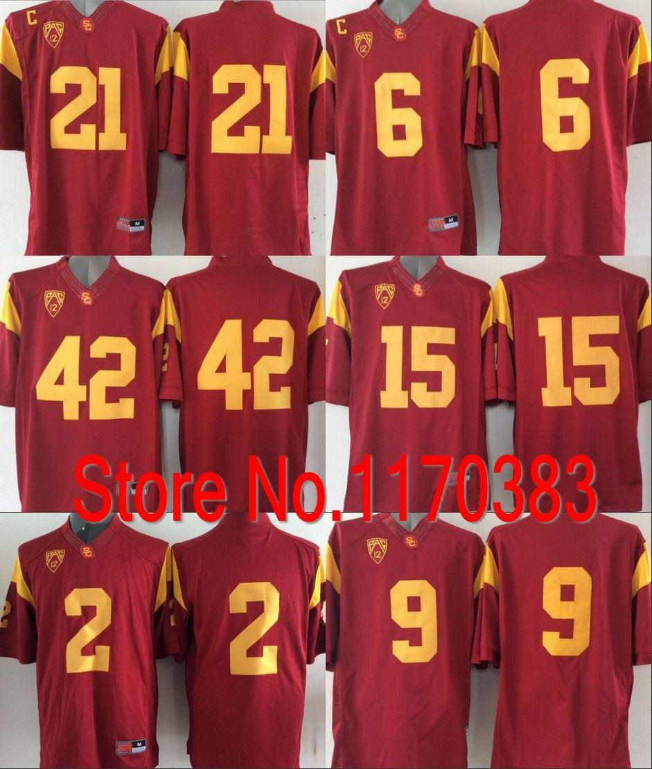 2019 Factory Outlet 2015 New Style USC Trojans Jersey  2 Adoree Jackson  6  Cody Kessler 15 Isaac Whitney 42 Uchenna Nwosu College Football Jerse From  ... d63969a43